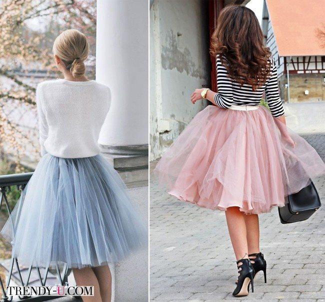 Вот так носите юбку из фатина!