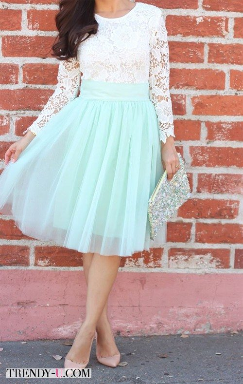 Вот так не следует носить юбку из фатина
