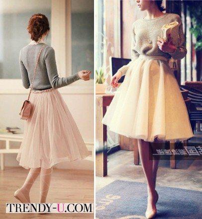 Лимонная и кремовая балетные юбки из фатина