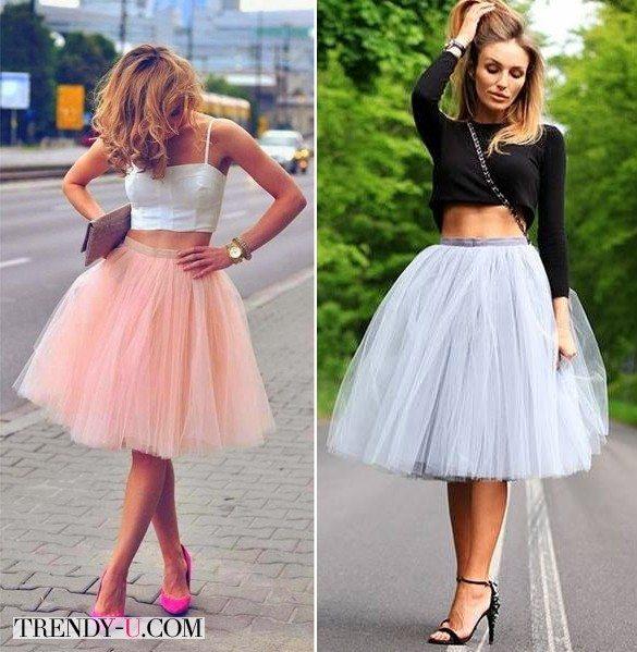 Балетные юбки в сочетании с укороченными топами