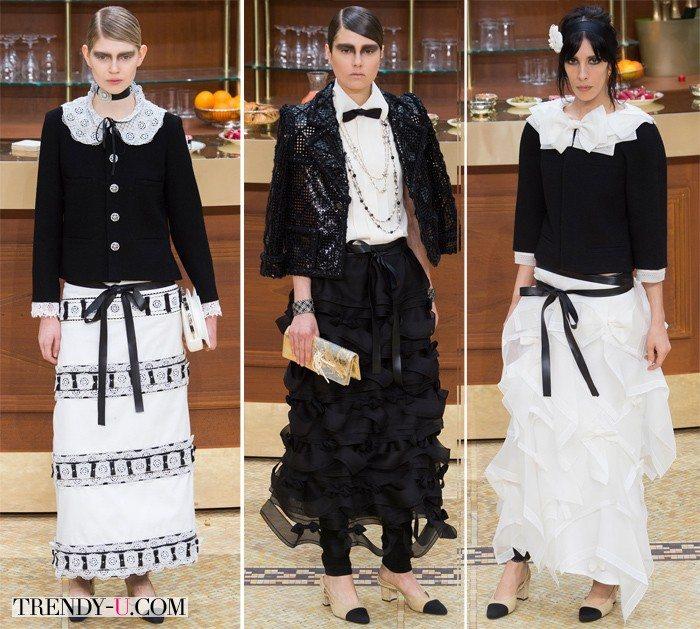 Блузки в стиле ретро от Chanel осень-зима 2015-2016: не просто look, но образ