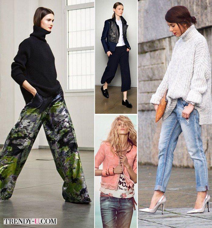 Брюки, джинсы и чиносы для фигуры перевернутый прямоугольник