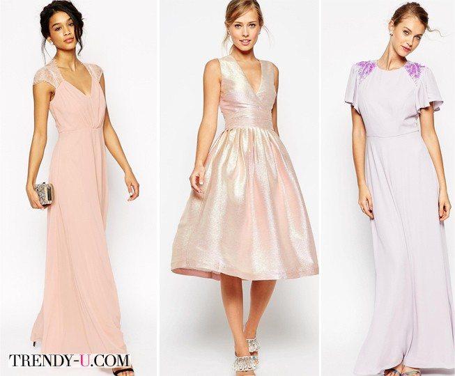 Вечерние платья для девушек на свадьбу подруги из ASOS