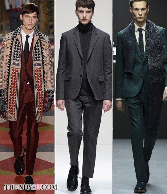 Мужские деловые костюмы модных цветов