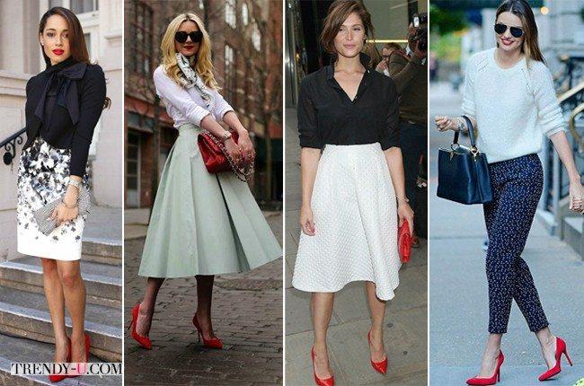 Gemma Anderson, Miranda Kerr и другие модницы в красных туфлях