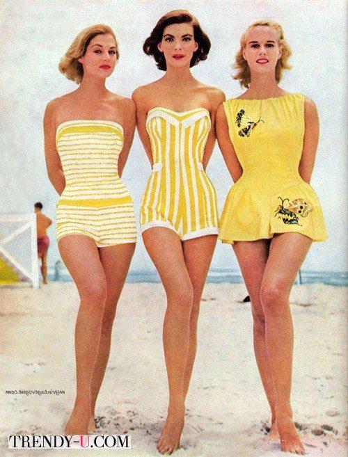 Девушки 50-х в купальниках