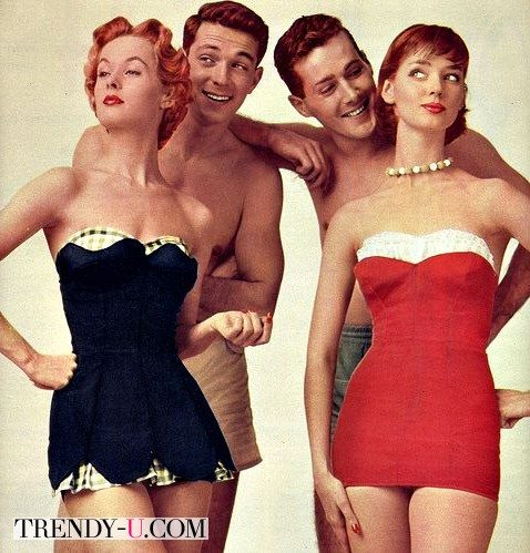 Купальники в стиле ретро 50-х