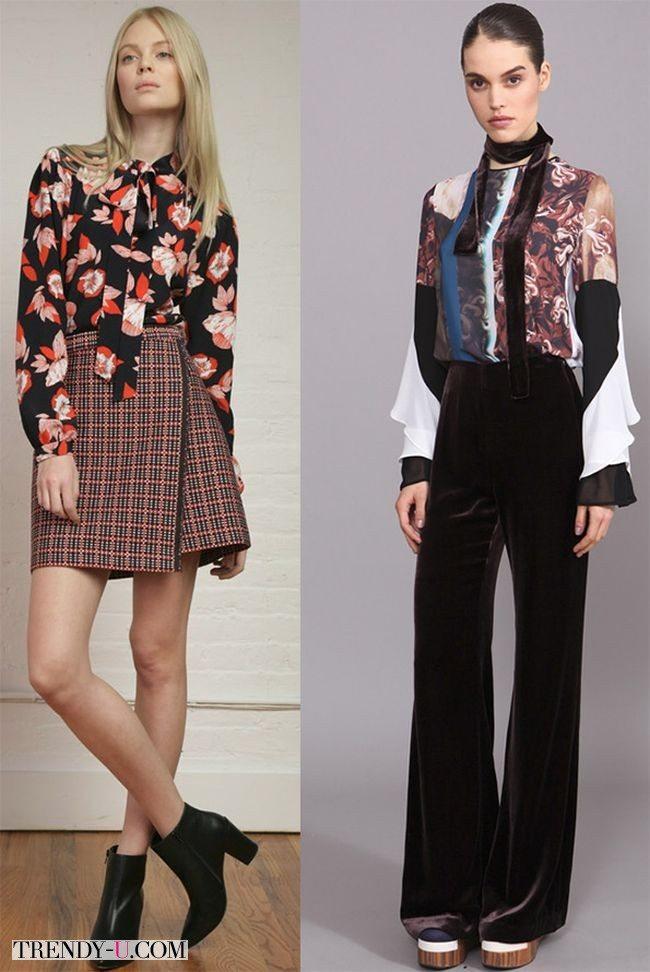 Модные блузки с принтом от Nanette Lepore и MSGM осень-зима 2015-2016