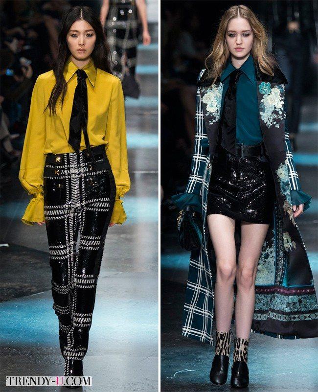 Блузки модных цветов для осени и зимы 2015-2016