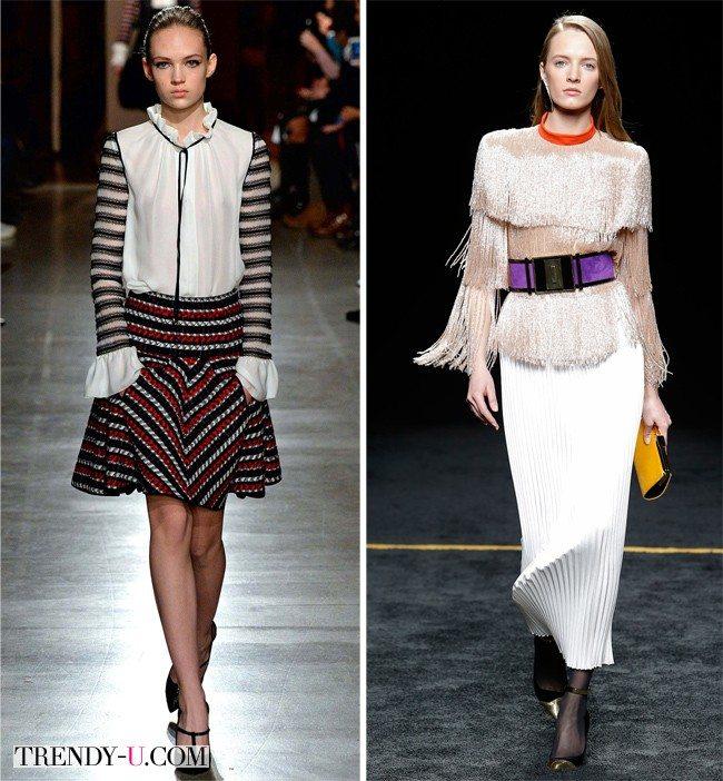 Модные блузки Oscar de la Renta и Balmain