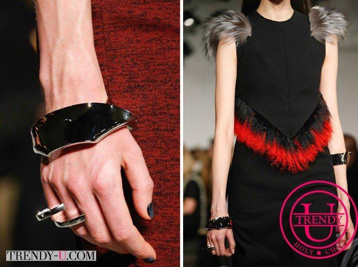 Кольцо и браслет от Poenza Schouler осень-зима 2015-2016