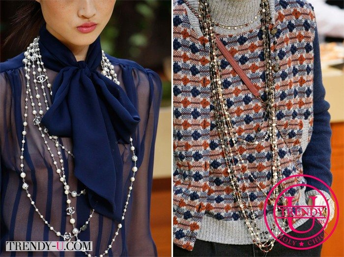Модные украшения осень-зима 2015-2016: бусы из жемчуга Chanel