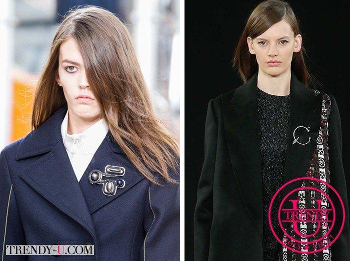 Броши на верхней одежде осень-зима 2015-2016 - это модно!