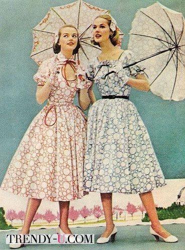 Модницы 50-х годов