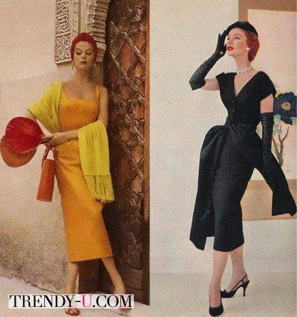 Платья и аксессуары 50-х