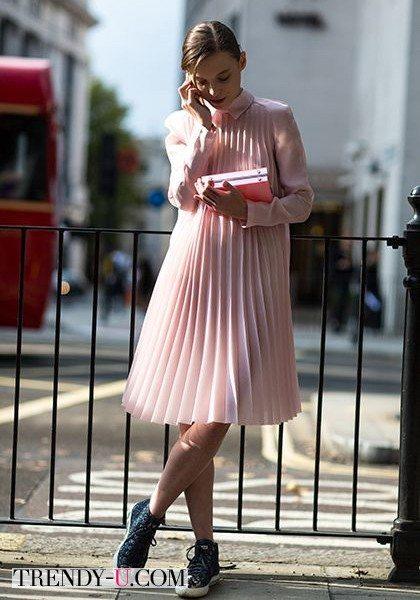 Платье-плиссе