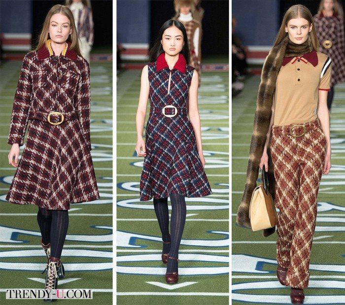 Модная одежда в спортивном стиле и стиле ретро от Tommy Hildiger осень-зима 2015-2016