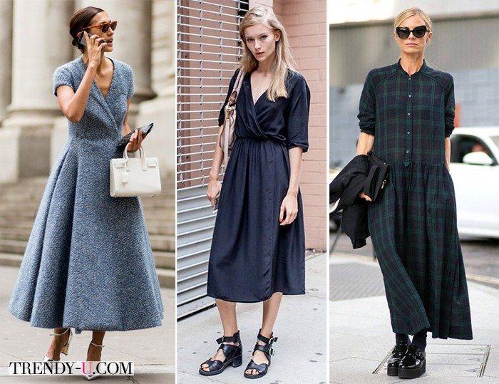 """Уличные модницы в платьях, которые подойдут типу фигуры """"прямоугольник"""""""