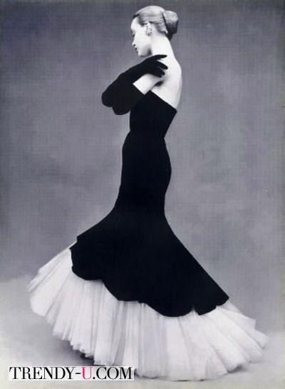 Вечернее платье в стиле 50-х годов от Баленсиага