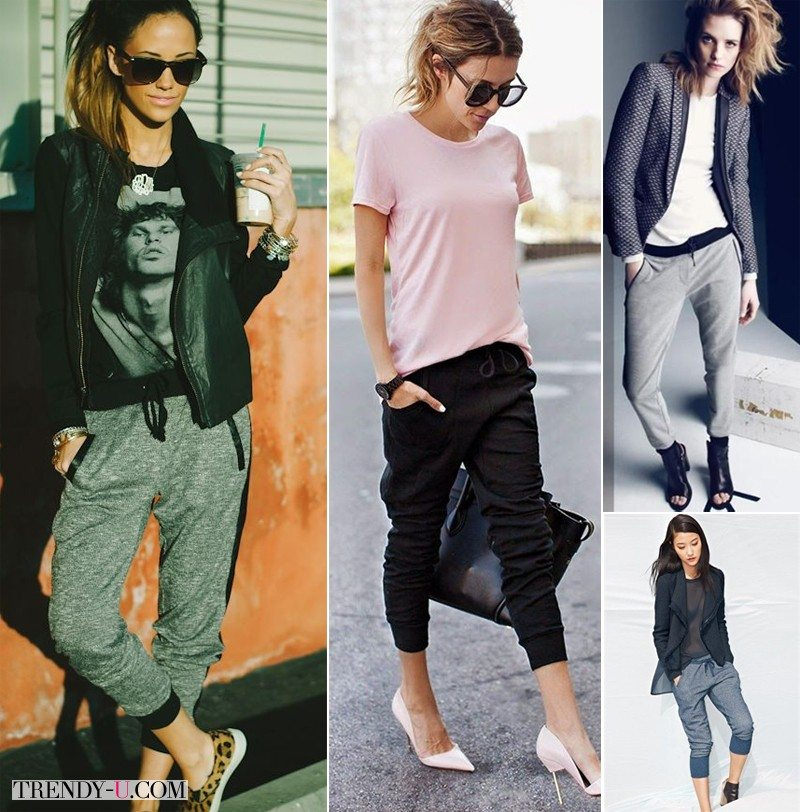 Джоггеры на уличных модницах