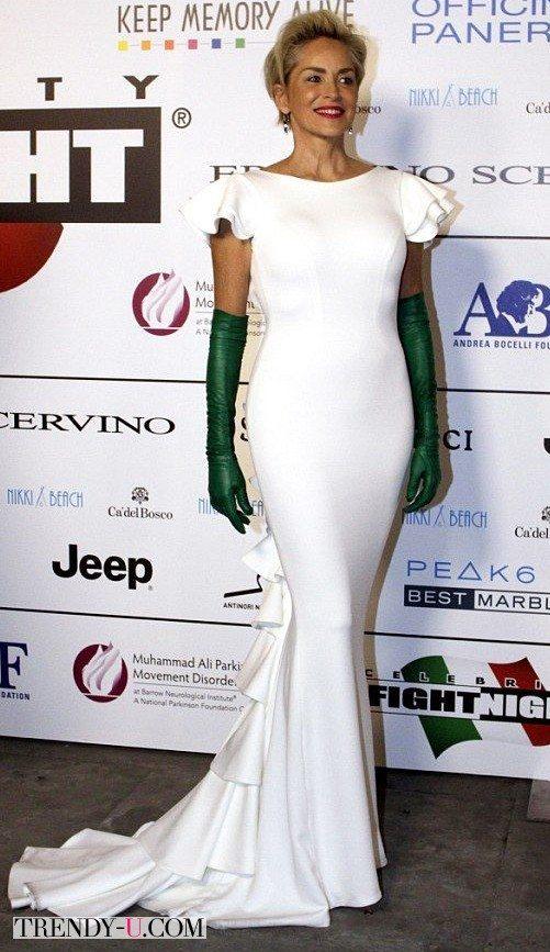 Шерон Стоун в русалочьем платье, сентябрь 2015