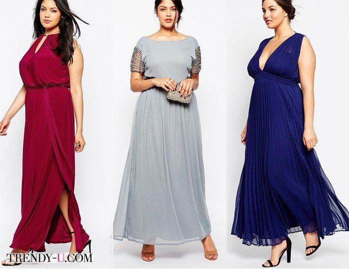 Вечерние платья для полных девушек и женщин
