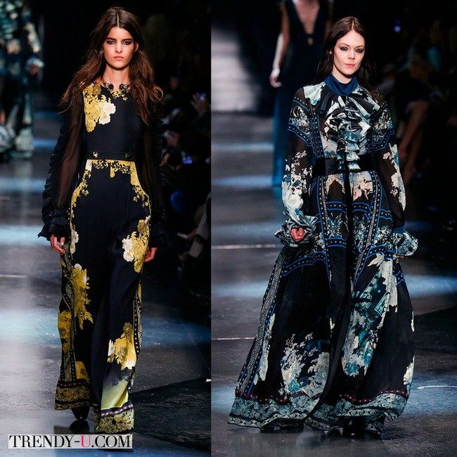 Платья Roberto Cavalli осень-зима 2015-2016