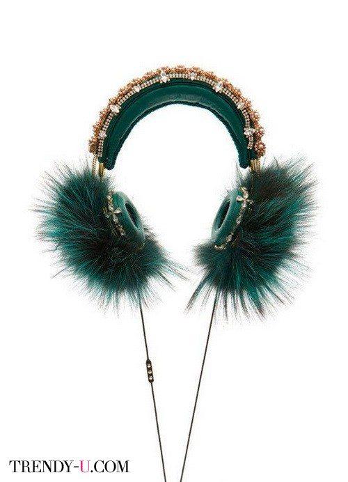 Меховые наушники Dolce&Gabbana