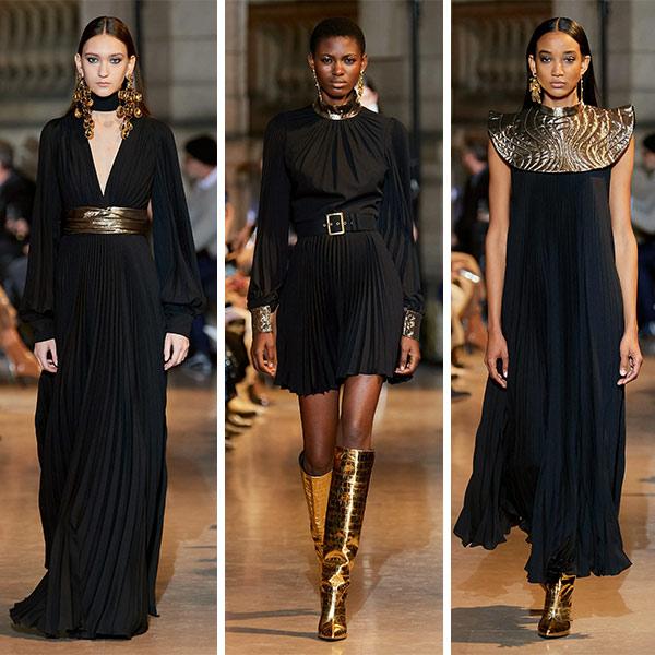 Нарядные платья черные от Andrew Gn