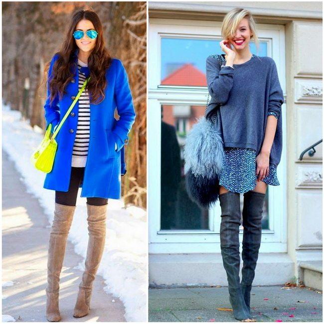 Модные ботфорты осень-зима