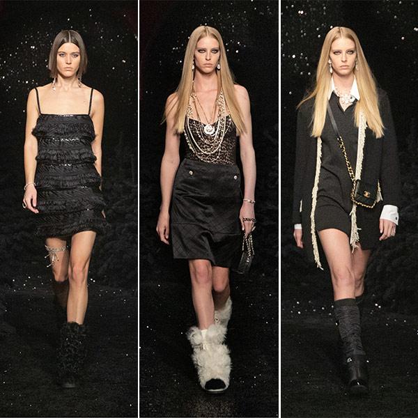 Маленькое черное платье от Chanel осень-зима 2021-2022