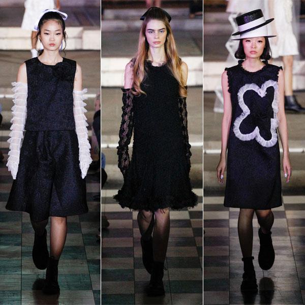 Маленькие черные платья в коллекции Ryan Lo весна-лето 2018
