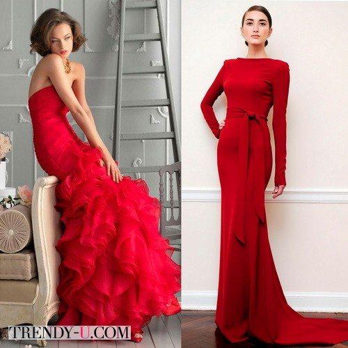 Красное вечернее платье для новогоднего корпоратива 2016