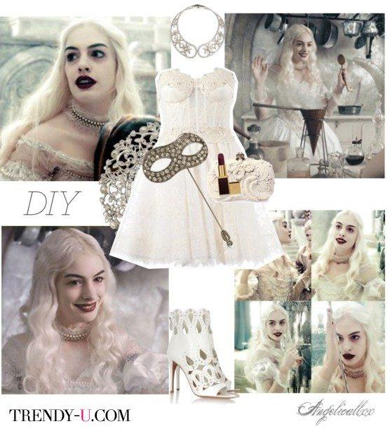 Маскарадное платье королевы и макияж