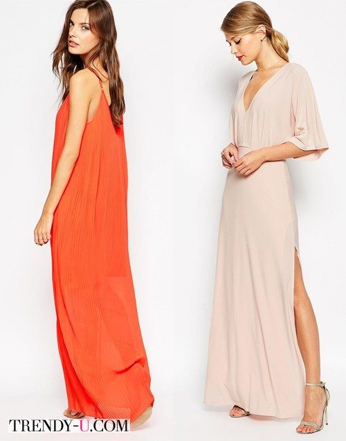 Платья в пол для празднования Нового года 2016