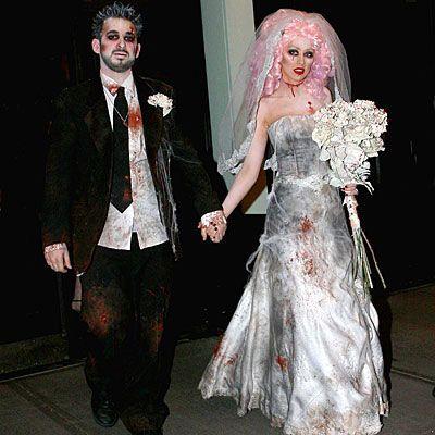 Кристина Агиллера в костюме мертвой невесты
