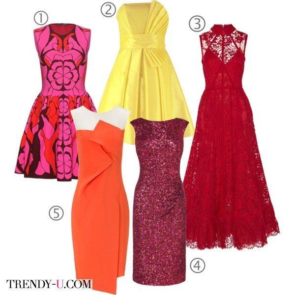 Яркие нарядные платья в подарок женщине на Новый год 2016