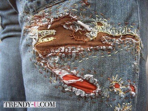 Сделать заплатку на джинсах может любая рукодельница