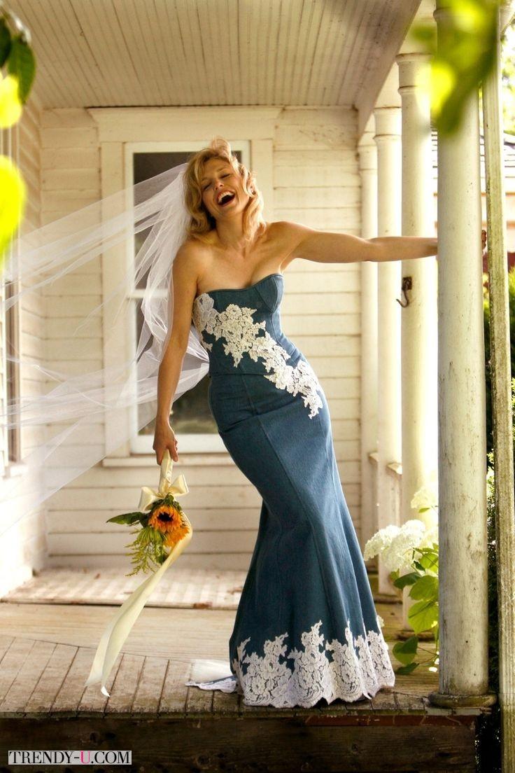 Свадебное платье из денима. А Вы решились бы?