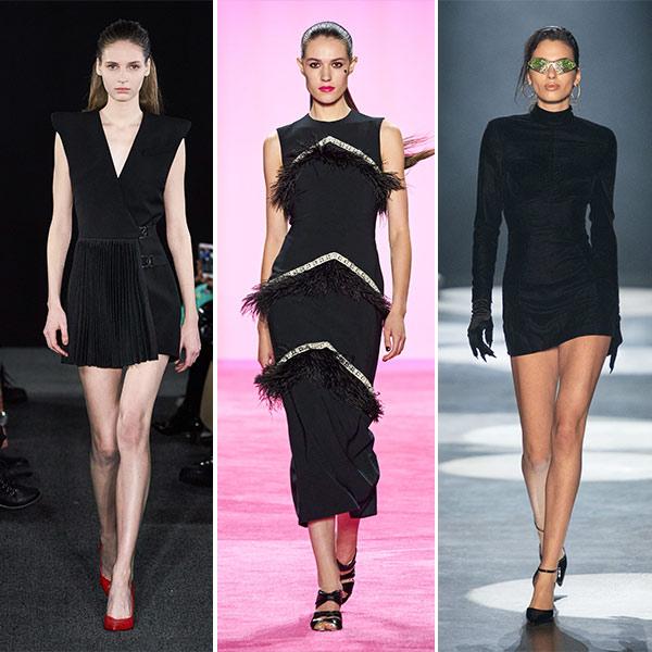 Вечерние платья, мини и миди, в коллекциях David Koma, Christian Siriano and Christian Cowan FW 2020