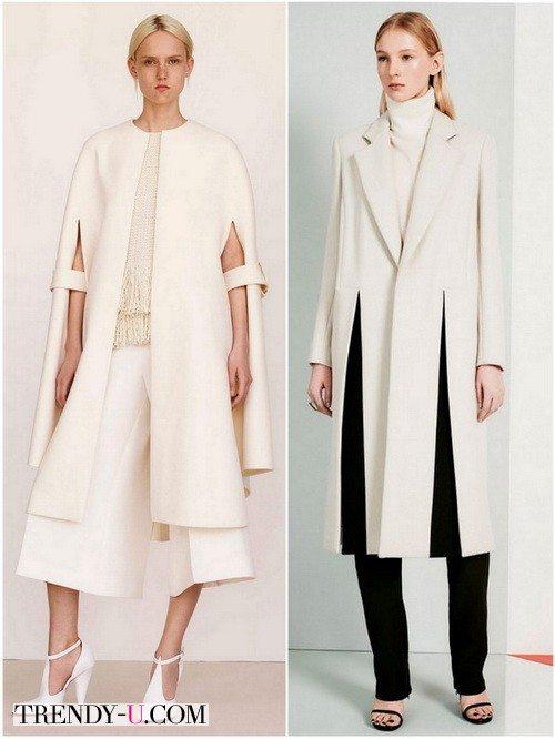 Красивые белые пальто для зимы 2017