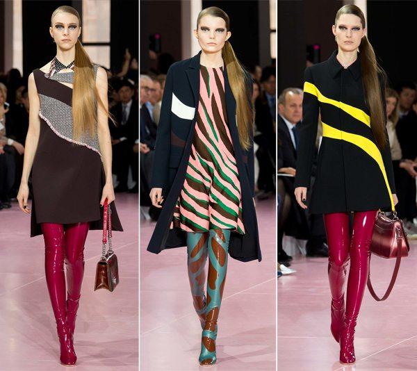 Лаковые сапоги-чулки из коллекции Christian Dior осень-зима
