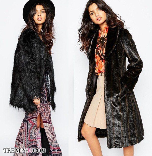 Модные меховые пальто из ASOS