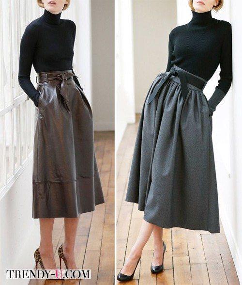 Черные водолазки и пышные юбки