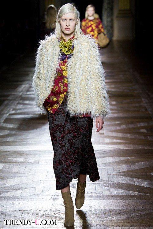 Модный полушубок Dries van Noten осень-зима 2015-2016
