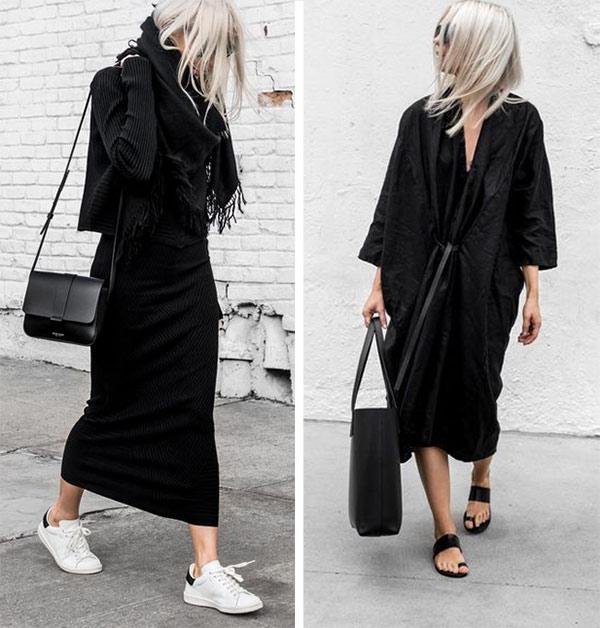 Черные платья оверсайз