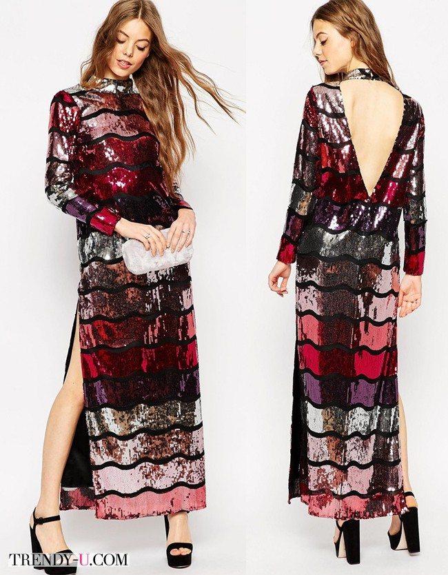 Платье в пол для празднования Нового года 2016