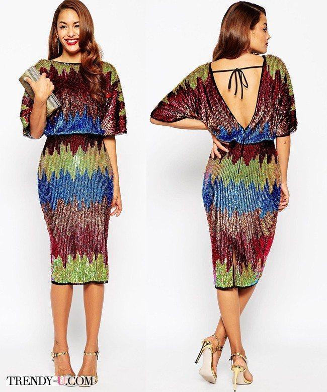 Стильное платье с пайетками для новогодней вечеринки