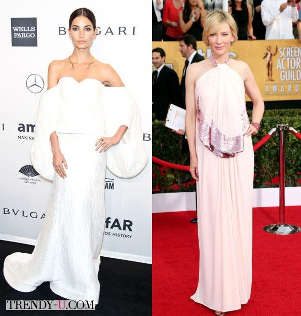 Звезды в вечерних платьях: модель Lily Aldridge и актриса Cate Blanchett