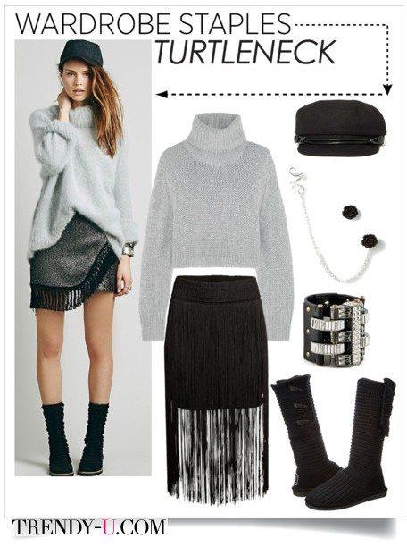Ультра-модная юбка и спокойный верх